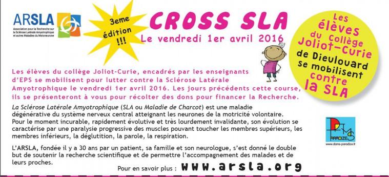 Le collège Joliot Curie organise un cross des enfants pour soutenir l'ARSLA