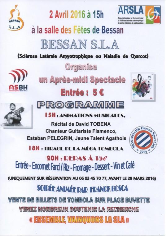 Tombola et Loto contre la maladie de charcot de Bessan SLA