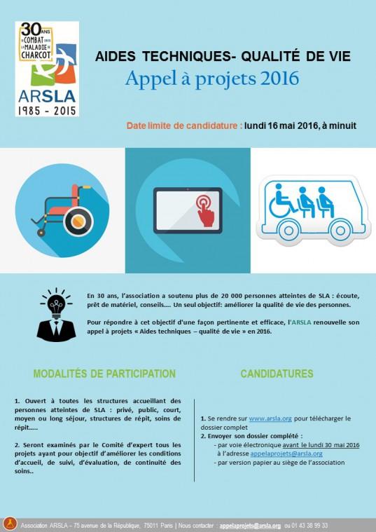 Appel à projets aides techniques 2016