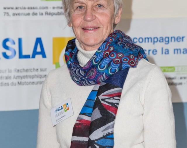 ARSLA 2015 - Rencontre annuelle des bénévoles de l'ARSLA du 31-01 et 01-02-2015 à Paris, Ici Jocelyne Pasco
