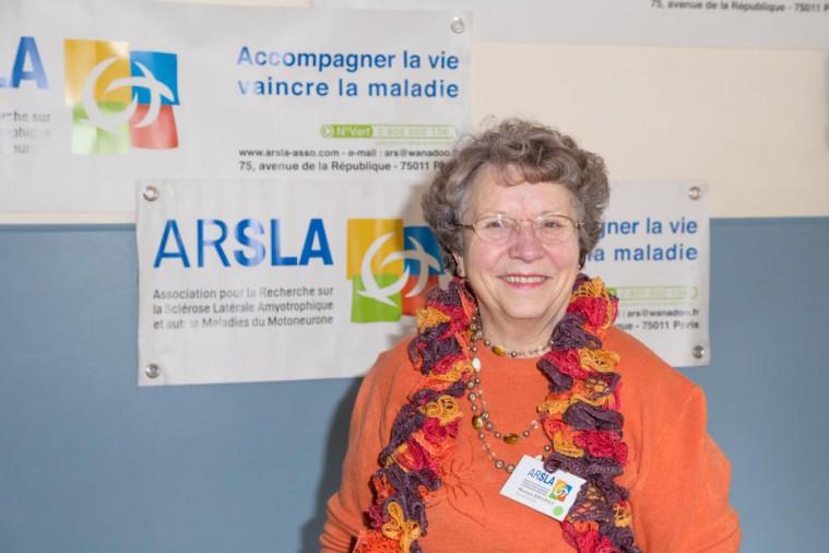 ARSLA 2015 - Rencontre annuelle des bénévoles de l'ARSLA du 31-01 et 01-02-2015 à Paris, Ici Monique Jollivet