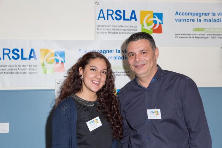 ARSLA 2015 - Rencontre annuelle des bénévoles de l'ARSLA du 31-01 et 01-02-2015 à Paris, Ici Vanessa Garcia et Philippe Benjamin