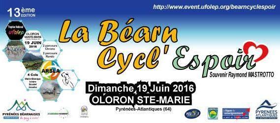 Béarn Cycl'Espoir au profit de l'ARSLA