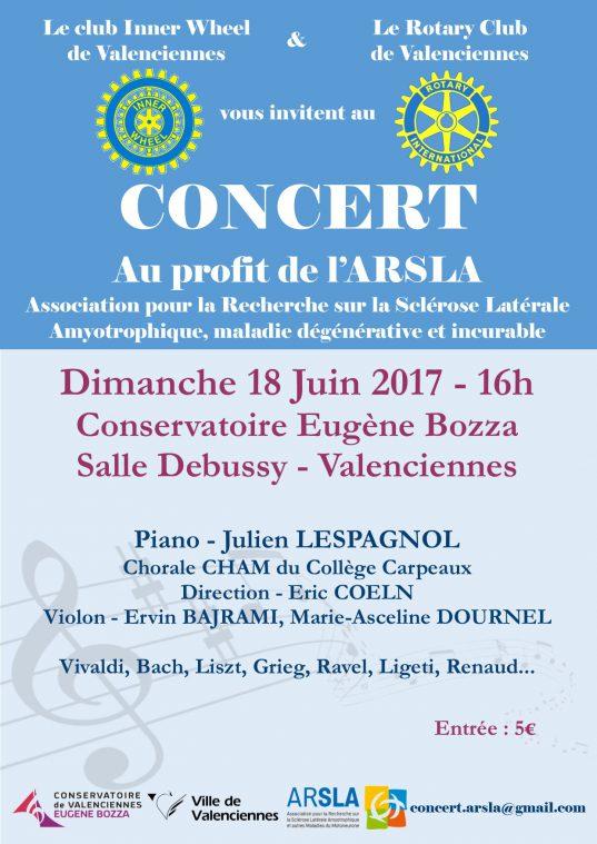 Concert au profit de l'ARSLA