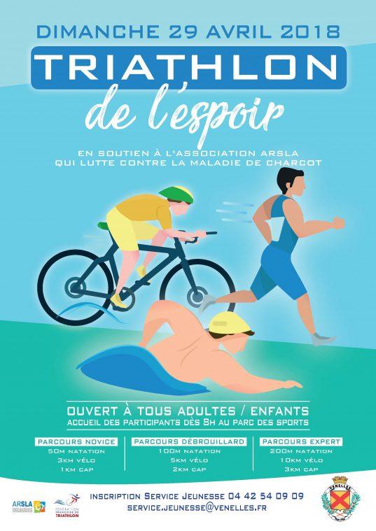 Affiche Triathlon de l'espoir Venelles