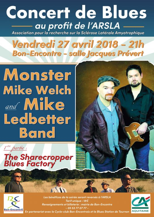 Affiche concert Blues Bon Encontre