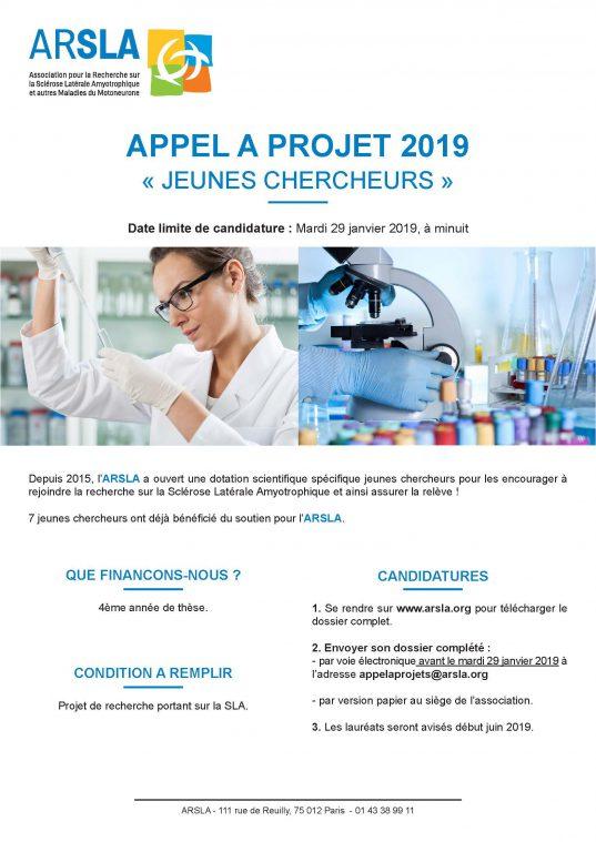 appel à projets jeunes chercheurs 2019