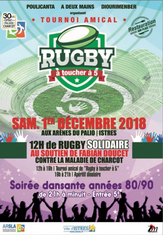 Rugby -Maladie de Charcot