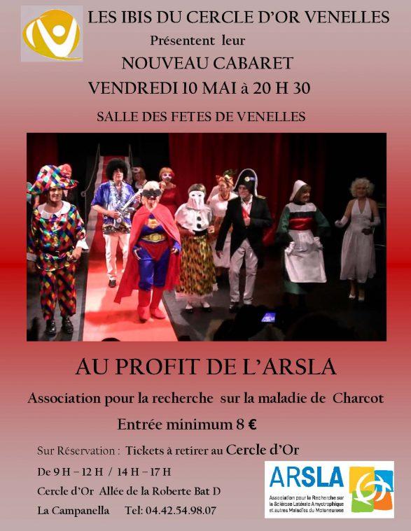 Soirée cabaret 10 mai à venelles - ARSLA maladie de Charcot
