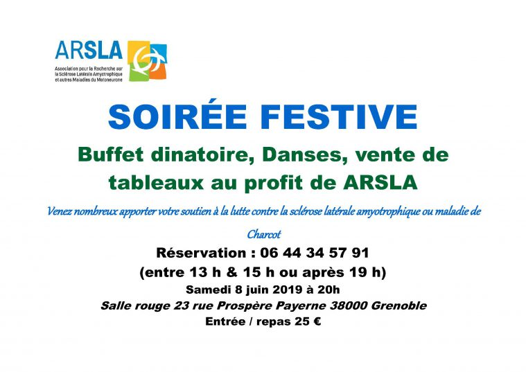 Soirée festive ARSLA Maladie de Charcot