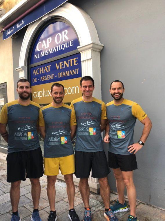 Cap or numismatique au marathon de paris - ARSLA maladie de Charcot