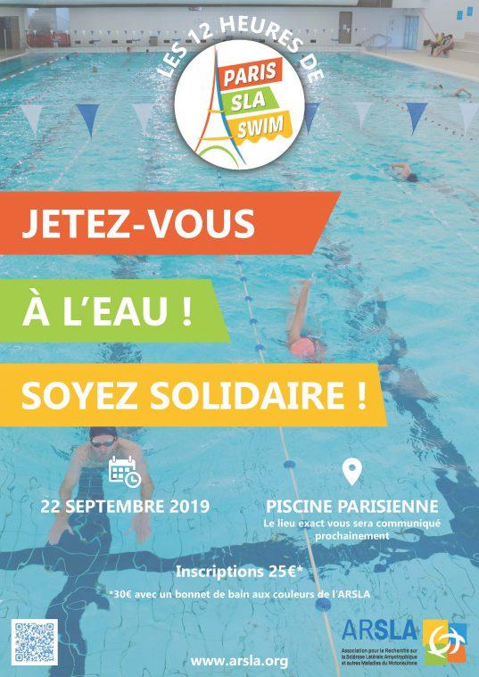 Paris SLA Swim - ARSLA - Maladie de Charcot