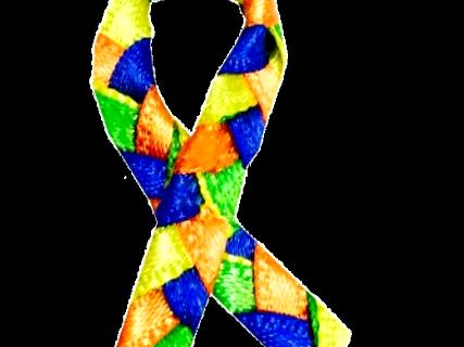 Ruban symbole de la lutte contre la SLA - Maladie de charcot