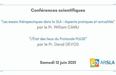 Conférences scientifiques - ARSLA - MALADIE DE CHARCOT
